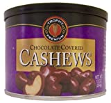 Trophy Nut Chocolate Covered Cashews, 10-Ounce Cans (Pack of 4)