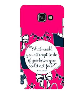 printtech Cool Quotes Life Back Case Cover for Samsung Galaxy A3 2016 Edition