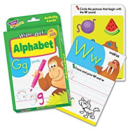 Wipe-Off Activity Cards, Alphabet, 32/Pack, Sold as 1 Each