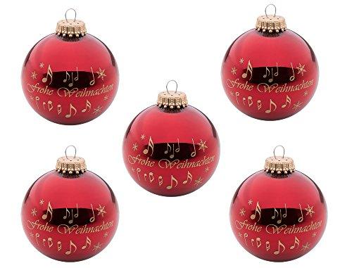 5er-Set-Weihnachtskugeln-Frohe-Weihnachten-Schnes-Geschenk-fr-Musiker