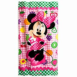 Disney Store Minnie Mouse Clubhouse Beach Towel by Disney