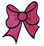 Great Pink Bow Iron On Patch For Kids Baby - High Quality