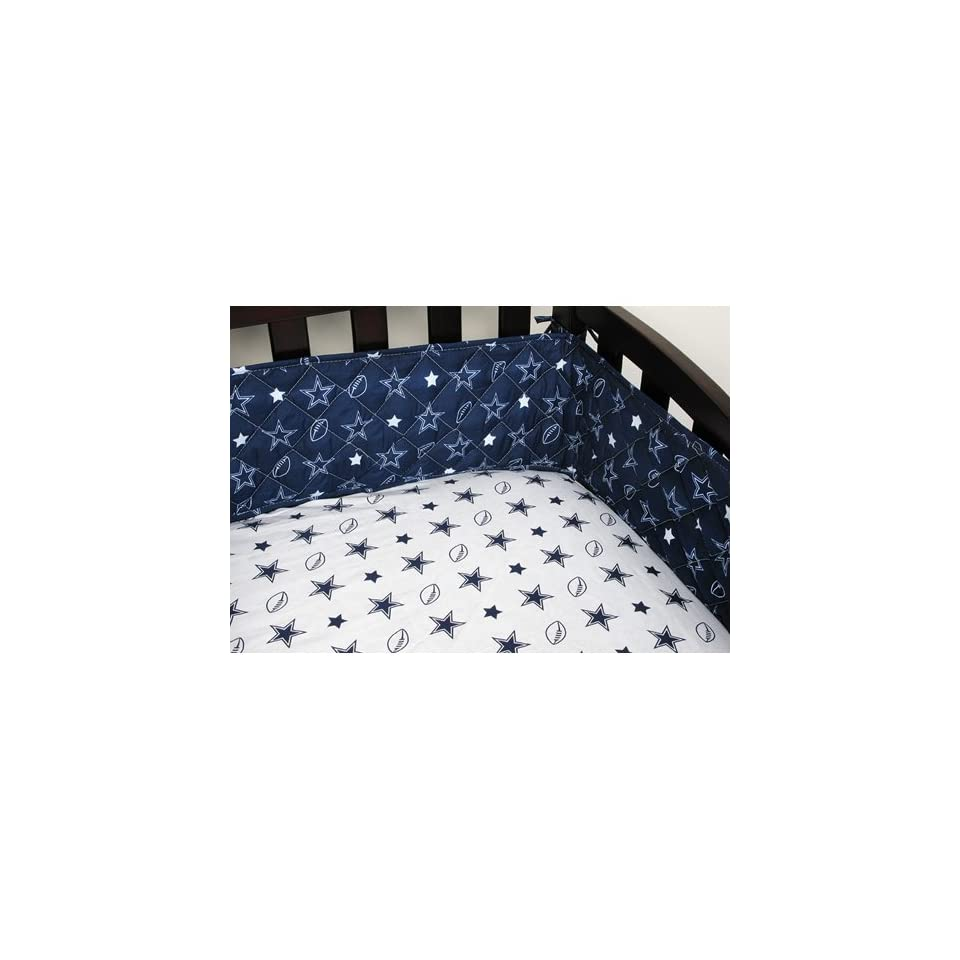 BSS   Dallas Cowboys NFL Micro Fiber Crib Bumper