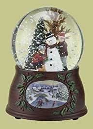 5.5″ Musical Snowman and Kids Winter Scene Christmas Snow Globe Glitterdome