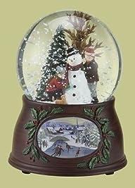 5.5″ Musical Snowman and Kids Winter Scene Christmas Snow Globe Glitterdome