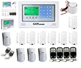 Funk Alarmanlage / großer Touch LCD - Telefon+GSM+Handy+Alarm+Anruf+SMS+bis 100 Sensoren