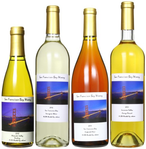 San Francisco Bay Winery Color Of The Golden Gate Mixed Pack, 3 X 750 Ml And 1 X 375 Ml