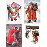 Father Christmas Pack of 20 Christmas Cards (Mini Box)||RF10F