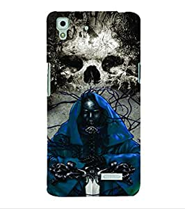 PrintVisa Villain Skull Bond Don Modern Art 3D Hard Polycarbonate Designer Back Case Cover for Oppo R7