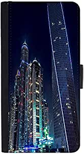 Snoogg Colorful Building Designer Protective Phone Flip Back Case Cover For Samsung Galaxy J7 (2016)