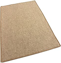 3\' ROUND - CAMEL BEIGE - ECONOMY POOL & PATIO - Indoor / Outdoor Carpet Rugs, Runners & Mats | Light Weight Spun Olefin Reliably Comfortable!