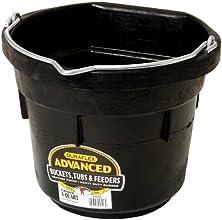 Miller Manufacturing DF8FB Rubber Flat Back Bucket for Horses, 8-Quart