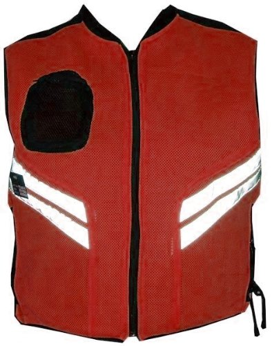 MOTORCYCLE SCOOTER Orange Reflective Visibility Vest