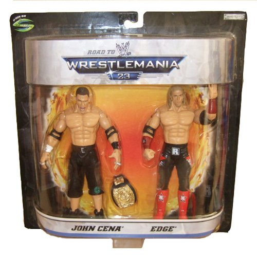 Buy Low Price Jakks Pacific WWE Summer Slam Road to Wrestlemania 23 Series 1 John Cena and Edge Action Figure Set (B004ZHOBP4)