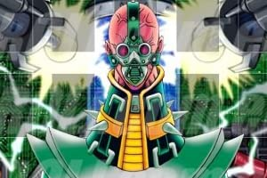 【代引き対応】 abcplaymat1477 PSV-000 人造人間-サイコ・ショッカー Jinzo 1 カスタム プレイマット 遊戯王 英語版