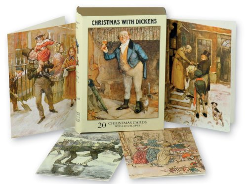 'Christmas with Dickens' Christmas Card 'Book' Box (20 cards) Great value!
