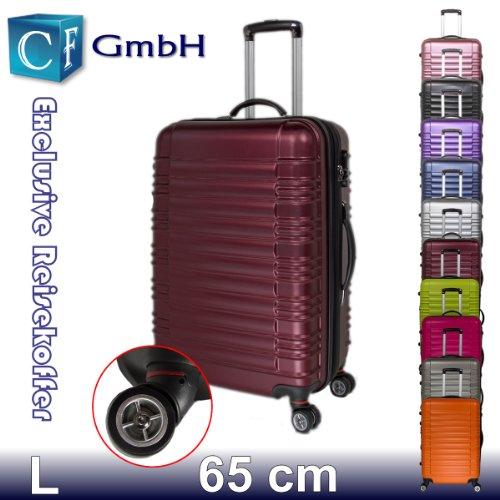 LG2088 Weinrot in Größe L Koffer Reisekoffer