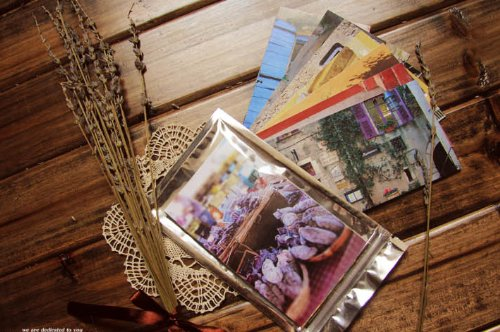 Provence Vintage Postcards Set, Retro Postcards