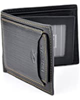 HOVEOX Stylish Men Leather Wallet Pocket Money Purse Id Credit Card Clutch Bifold