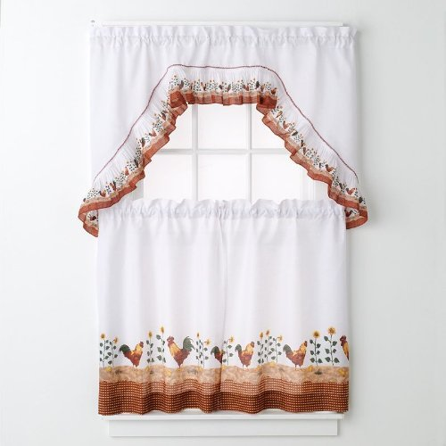 Kitchen Curtains Sets Amazon: Rooster Kitchen Curtains Shop