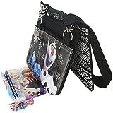 Disney Frozen Olaf Black 3 Detachable Layers Shoulder Bag with Stationery Set