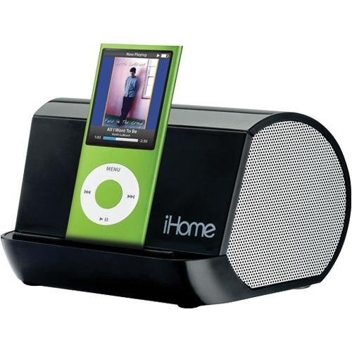 Ihome Ihm10 Portable Mp3 Player Stereo Speaker System (Black)