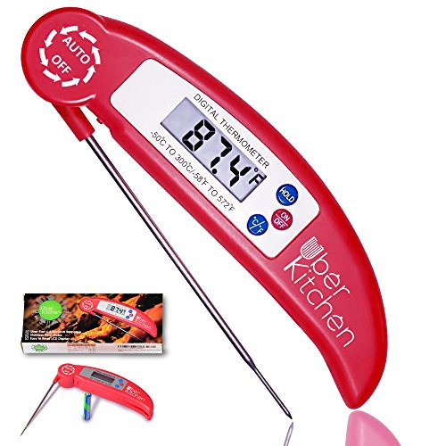 Digital Instant Read Food Meat Thermometer for Cooking Grilling Barbecue Candy Baking Baby Formula Temperature Check - Food BBQ & Liquids - Collapsible Internal Long Probe (Cusinart Compact Toaster Oven compare prices)