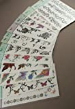 6 Packs Butterflies Temporary Tattoo Flash with Glitter