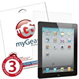 myGear Products DIAMOND DiamondDust Screen Protectors for iPad 2 (3 Pack) ~ myGear Products