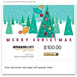 Amazon Gift Card - E-mail - Merry Christmas (Birds)