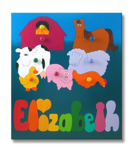 Cheap KidPuzzles Wooden Name Puzzle Farm Animals (B00564HJYA)