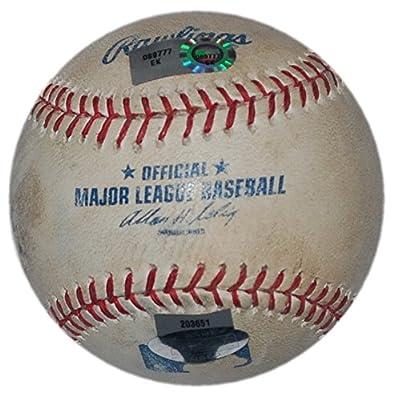 NY METS @ NEW YORK YANKEES 6/8/12 GAME USED BALL SANTANA vs KURODA CANO SWISHER