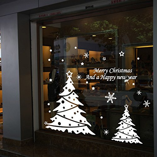 ColorfulHall White Color Merry Christmas And Happy New Year Lettering Words