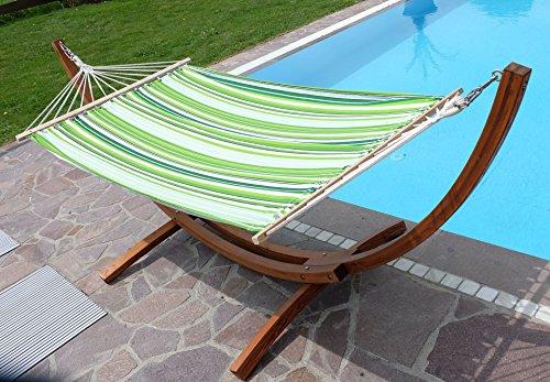 Amaca XL deluxe nobile 320cm con cornice in legno larice mod. 'SOSUA'