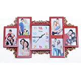 WOW Collage Photo Frame With Watch (Red)