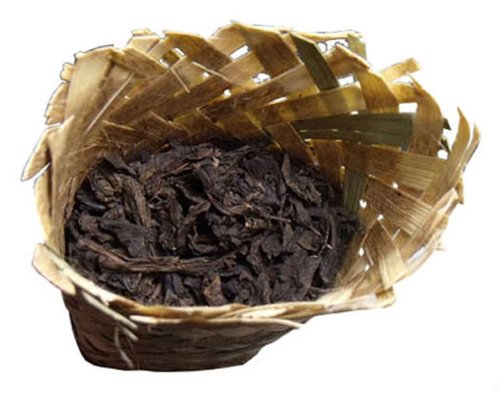 Bamboo Skin Basket Ya'An Slender-Bud Tibetan Tea 2010 Pure Mountain Tea 200G