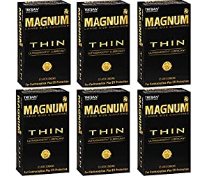 Trojan Magnum KxVto Thin, 12 Count (Pack of 6) yaJiM