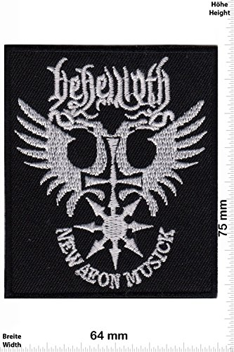 Patch - New Aeon Musick - Behemoth - MusicPatch - Rock - Chaleco - toppa - applicazione - Ricamato termo-adesivo - Give Away
