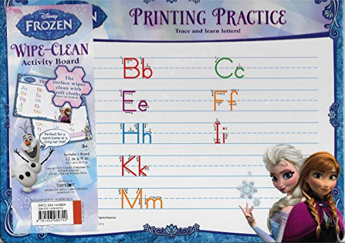 Disney Frozen Wipe-Clean Activity Board - Printing Practice - 1