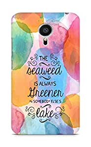 AMEZ seawead is greener in others lake Back Cover For Meizu MX5