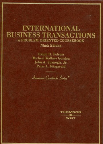 International Business Transactions: A Problem-oriented Course