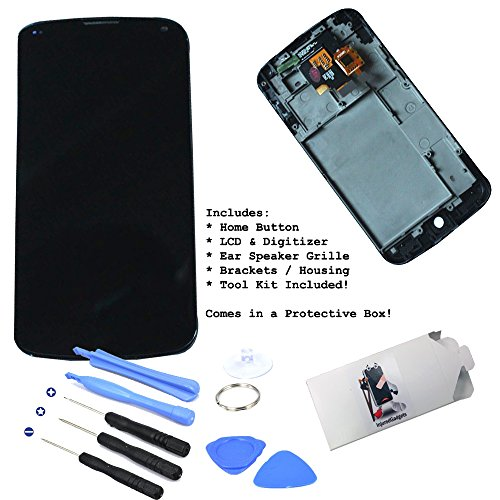 Black Lcd Display Touch Screen Glass Panel Digitizer Assembly Housing Frame Repair Part For Lg Google Nexus 4 E960