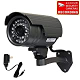 518V5jbdPVL. SL160  VideoSecu Day Night Vision Weatherproof Bullet Home Security Camera 420L Wide View Angle Lens 1/3 CCD 30 Infrared IR Leds with Free Power Supply IRX5B CDQ