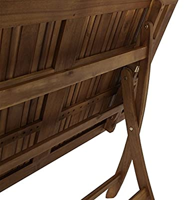 Klapptisch MARACANA 70x120cm, Akazie geölt von gartenmoebel-einkauf - Gartenmöbel von Du und Dein Garten