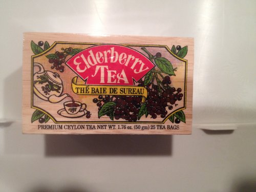 Elderberry Tea, 25 Tea Bags Sealed in Commerative Decorative Wooden Box.