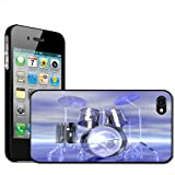 Fancy A Snuggle Funky Reflective Drum Set Futuristic Clip On Back Cover Hard Case for Apple iPhone 44S
