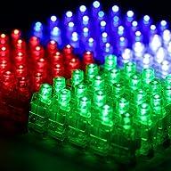 Etekcity 100 Pcs Super Bright LED Fin…