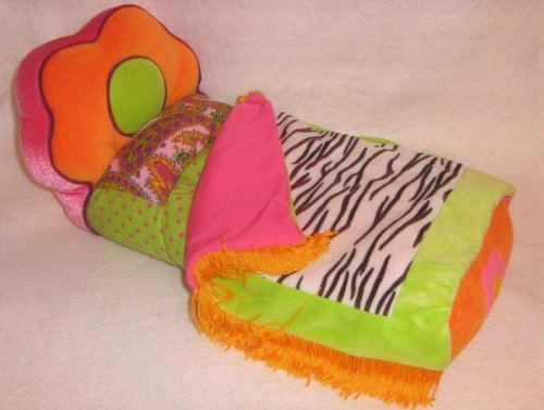 "13"" Groovy Girls Plush Zebra Print Bed"