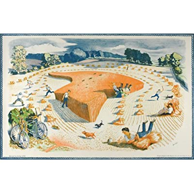 John Nash 'Harvesting' School print