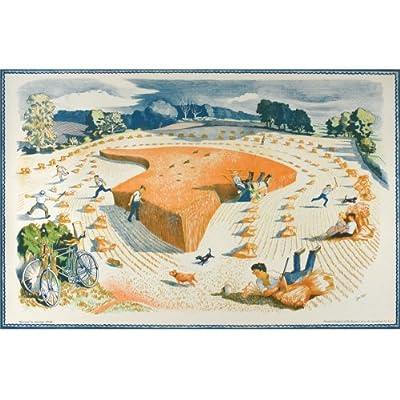John Nash 'Harvesting' School print